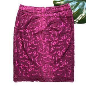 Cabi Purple Lace Skirt Size 6 NWOT